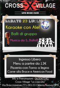 23 luglio karaoke